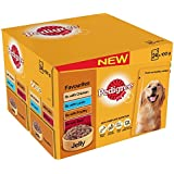 Pedigree Pouch Dog Food Favourites in Jelly 24x100g (Pack of 2, Total 48 pouches)