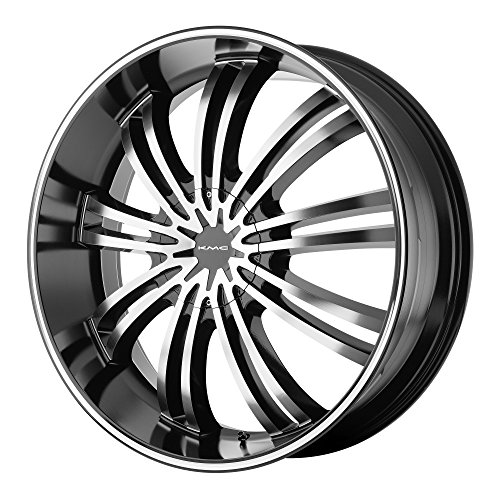 "Kmx Wheels Km682 Gloss Black Wheel With Machined Face (20X8.5""/6X5.5"")"
