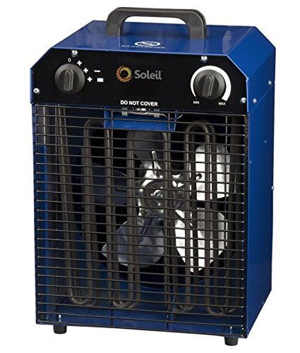 Soleil Commercial Industrial Heater Fan Forced 2000 W/240 V/4000 W/W 13.78 In. L X 12.2 In. W X 19.6