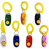 Penta Angel Pet Training Clicker Button Clicker with Wrist Strap, Train Dog, Cat, Horse, Pets for Clicker training (3 Pack)