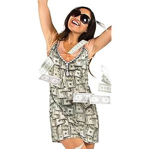 Faux Real PhotoRealistic Halloween Costume Money Dress Ladies T-Shirt