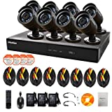 LaView 16 Channel Complete 960H Security System w/Remote Viewing, 1TB HDD, 8 x 600TVL Bullet Cameras, LV-KDV1608B6BP-1TB
