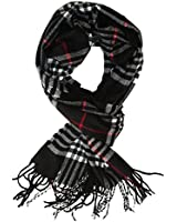 Cat Sister-Classic Cashmere Feel Winter Scarf in Rich Plaids