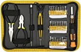 InstallerParts 35 Pieces Precision Screw Driver Set -- Includes Driver, Extension Shaft, 30 Various Standard, Phillips, Torx & Hex Bits, Needle Nose Plyers, Cutter, Tweezers and Durable Zip Storage Case