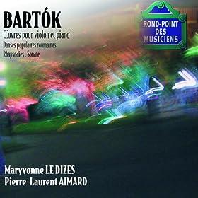 Bartok-Oeuvres violon/Piano-Sonate-Danses populaires,rhapsod ies