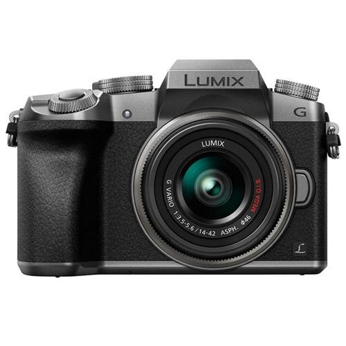 Cheapest Prices! Panasonic LUMIX DMC-G7KS DSLM Mirrorless 4K Camera, 14-42 mm Lens Kit (Silver)