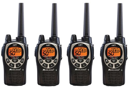 Midland GXT1000VP4 36-Mile JIS4 Waterproof 50-Channel FRS/GMRS Two-Way Radio (4 Pack )