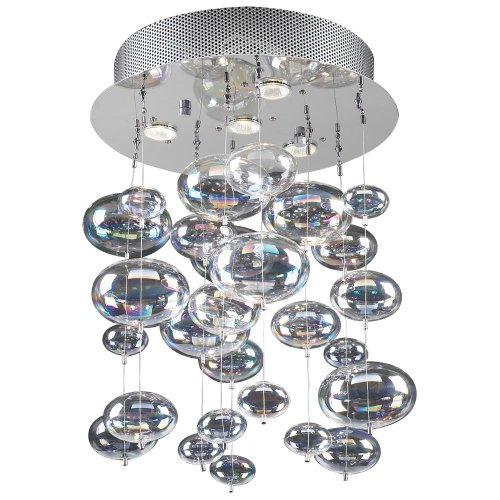 B00349VQ2K PLC Lighting 96962 PC 4 Ceiling Light Bubbles Collection