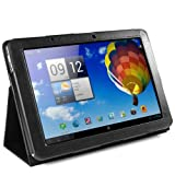 "EasyAcc Acer A510 / A700 Leder H�lle Case Folio Tasche Cover mit St�nder for Acer Iconia A510 / A700 Tablet PC 3G/WIFI 16GB/32GB (PU Leder, Schwarz)von ""EasyAcc"""