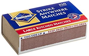 Diamond Matches, Kitchen, 250-Count (Pack of 48)
