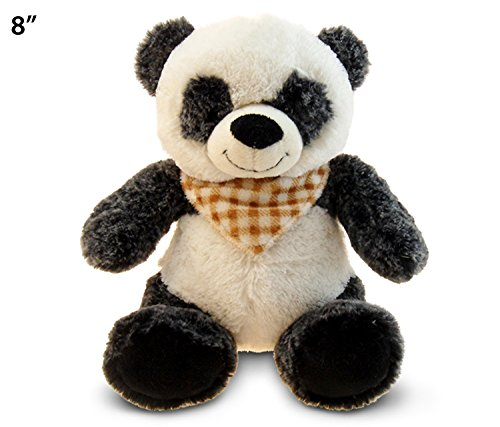 "Puzzled Super Soft Sitting Panda Plush, 8"" - 1"