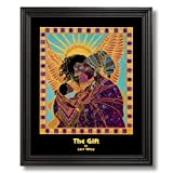 African American Black The Gift Family Wall Picture Black Framed Art Print