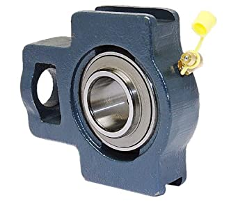 "FYH UCTC205-16 Take-Up Mounted Bearing, 2 Bolt, 1"" Inside Diameter, Set screw Lock, Cast Iron, Inch"