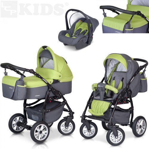 lcp kids 3 in 1 kombi kinderwagen im test baby test. Black Bedroom Furniture Sets. Home Design Ideas