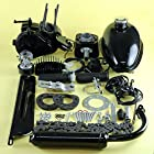49cc 2 Stroke Gas Bicycle Engine Motor Kit Motorized Bike Tank Carb Cable Pipe Coil