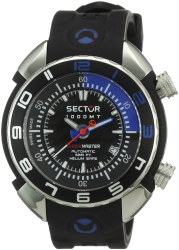 Sector Gents Watch Automatic Self-Winding with Black Rubber Strap - R3251178025