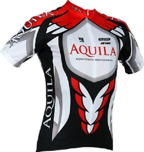 Oversize AQUILA Team short sleeve cycling jersey/ Cycling shirt also for MTB and leisure cycling - also for other sports such as Indoor Cycling and Speedskating