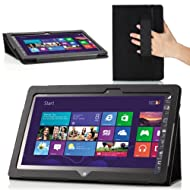 MoKo Slim Cover Case For ASUS VivoTab Smart ME400 ME400C 10.1 Inch Windows 8 Tablet Black (with Flip Stand Integrated...