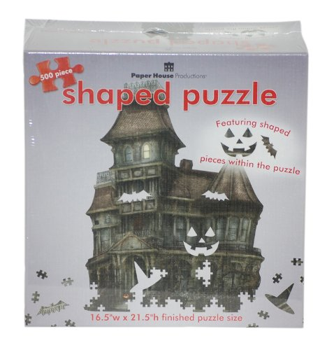 Cheap Paper House Jigsaw Shaped Puzzle 500 Pieces 16.5″X21.5″-Haunted House (B003OXPU14)