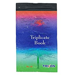 Triplicate Notebook Ruled Line and Plain Sheet Writing Notebook Stationary Supplies 300 Sheets - 1 Pcs