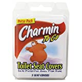 Charmin - To Go Toilet Seat Covers Tissue, 5 Seat Covers