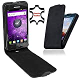 Perfect Case Stil Better Premium Flip Case Real Leather for Samsung Galaxy S2 i9100 Black