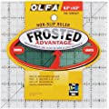 OLFA 1071798 QR-6S 6-1/2-Inch Square Frosted Advantage Acrylic Ruler