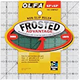 OLFA 1071798 QR-6S 6-1/2-Inch Square Frosted Advantage Acrylic Ruler (Color:
