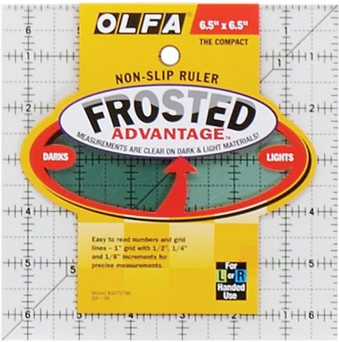 olfa-1071798-qr-6s-6-1-2-inch-square-frosted-advantage-acrylic-ruler