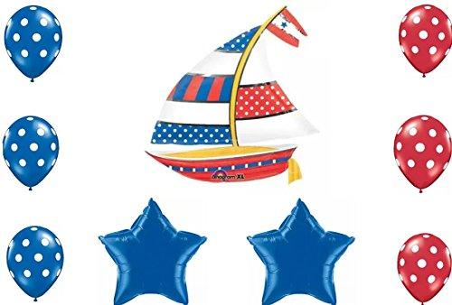 Nautical Sailboat Party Balloon Decoration