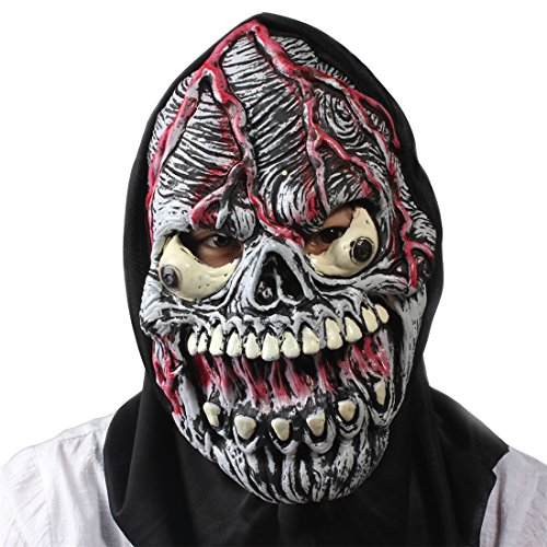 Halloween Masquerade Party Costume Cosplay Bloody Ghost Scary Face Mask