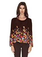 Peace & Love Blusa Xining (Marrón Chocolate)