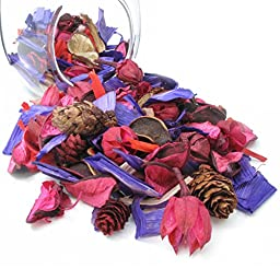 JR Decorative Fragrance Potpourri Bag Pure Plant materials 100% CHEMICAL FREE, MADE IN USA High Quality Natural Dried Flowers 2oz Helps Relax and Sleep (Rose)