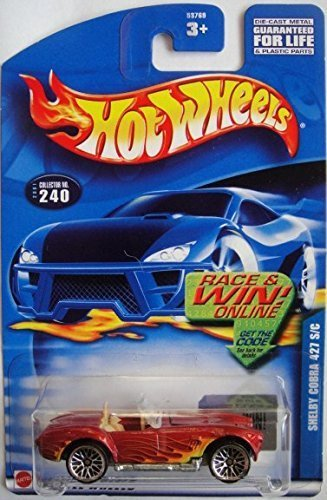 HOT WHEELS RACE & WIN ONLINE SHELBY COBRA 427 S/C RED #240