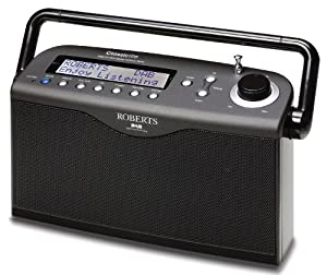 Roberts Classiclite DAB/FM RDS Digital Stereo Radio with up to 100 Hours Battery Life - Black