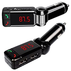 LCD Bluetooth Car Kit MP3 FM Transmitter SD USB Charger Handsfree Phone