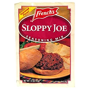 French's Sloppy Joe Seasoning Mix, 1.5-Ounce Packets (Pack of 24)