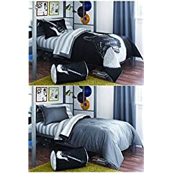 Boy Black White Guitar Rock Music Full Comforter Set (8pc Bed in a Bag) by Kids Bedding by Kids Bedding