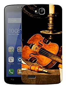 """Violin And Hookah Printed Designer Mobile Back Cover For """"Huawei Honor Holly"""" By Humor Gang (3D, Matte Finish, Premium Quality, Protective Snap On Slim Hard Phone Case, Multi Color)"""