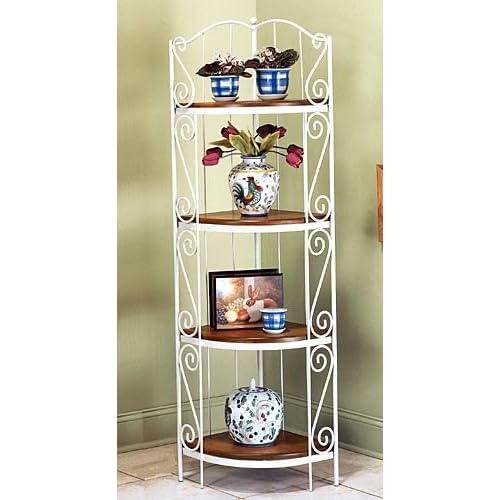 koch wrought iron corner baker 39 s rack with 4. Black Bedroom Furniture Sets. Home Design Ideas