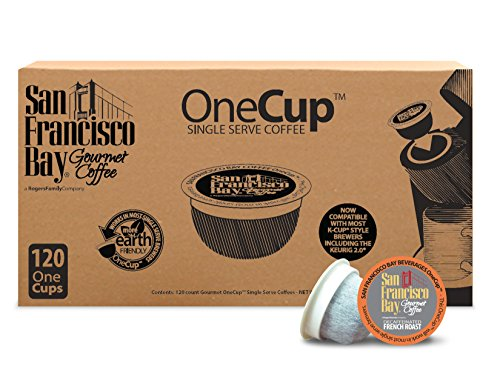 San Francisco Bay OneCup, Decaf French Roast, 120 Single Serve Coffees (San Francisco Bay Keurig Coffee compare prices)