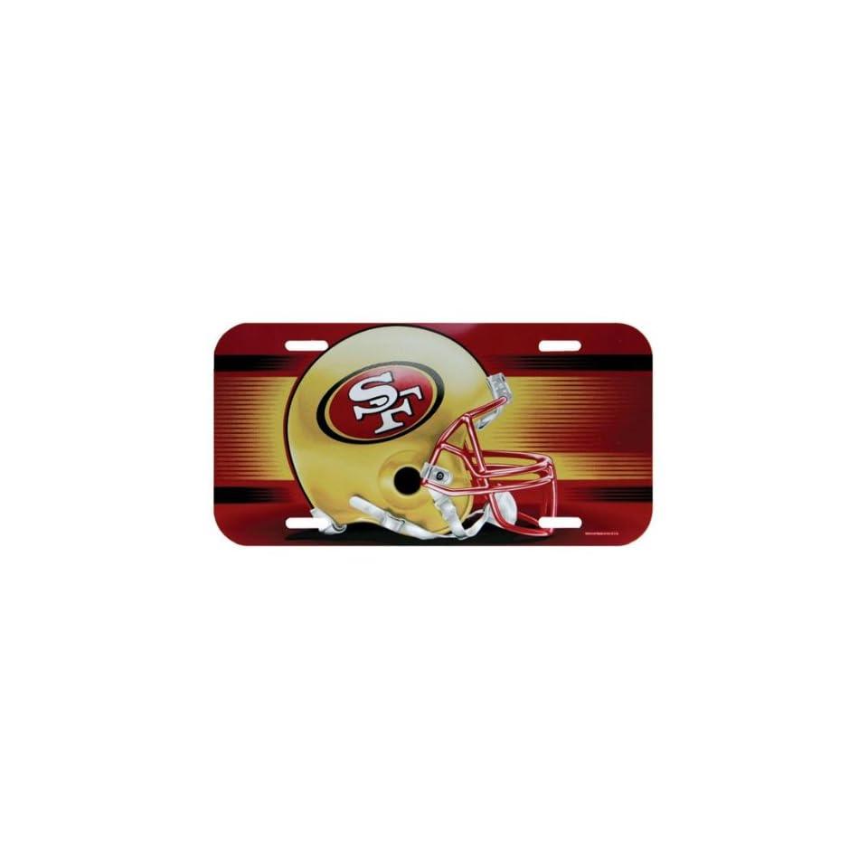 San Francisco 49ers   Logo License Plate, NFL Pro Football