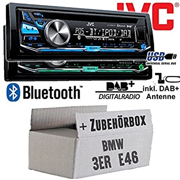 BMW 3er E46 - JVC KD-DB97BT - DAB+ Digitalradio | Bluetooth | USB | Autoradio inkl. DAB+ Antenne - Einbauset