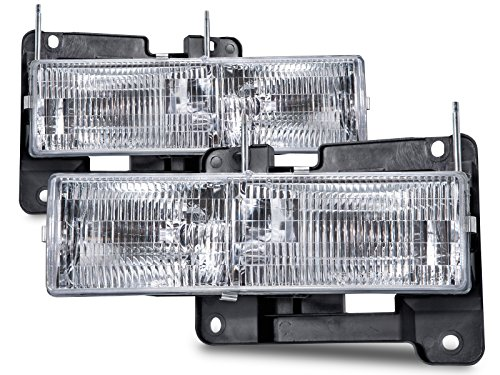 Headlights Depot Chevy Truck Replacement Headlights with bulbs (1996 Chevy Truck compare prices)
