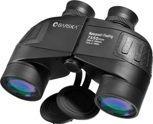 Barska 7x50 WP Battalion Floating Binoculars with Internal Rangefinder