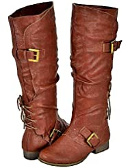 Yoki Bronx-08 Rust Women Riding Boots