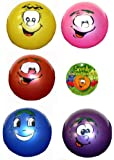 20cm Smelly Smiley Face Ball with Keyring (HB71)