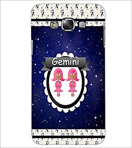 PrintDhaba Zodiac Gemini D-2760 Back Case Cover for SAMSUNG GALAXY A7 (Multi-Coloured)