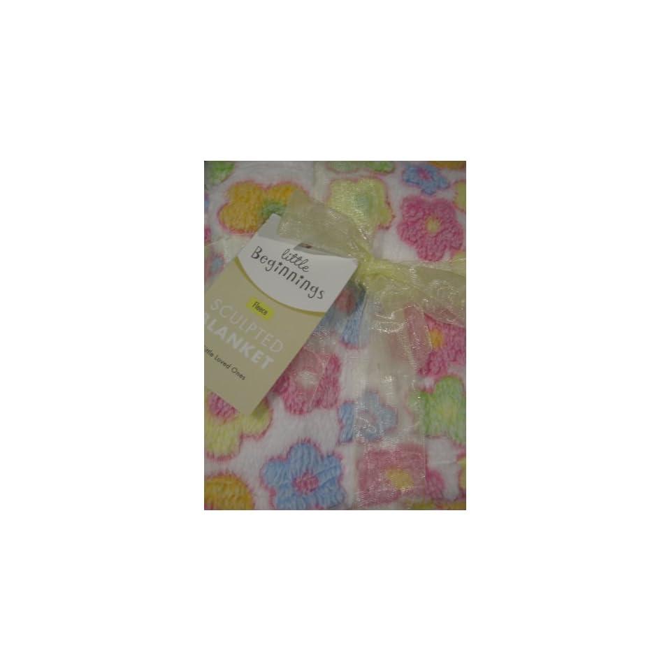 Little Beginnings Baby Girl Flower Blanket