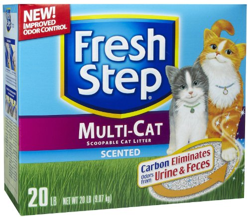 Fresh Step Multi-Cat with Febreze, Scented Scoopable Cat Litter, 20 Pounds